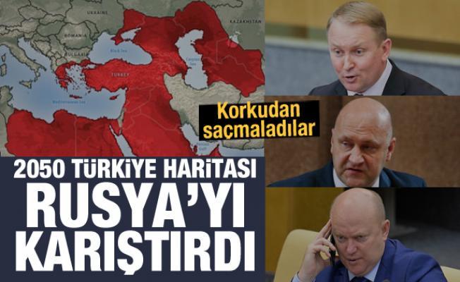 2050 Türkiye haritası Rusya'yı karıştırdı! Korkudan saçmaladılar