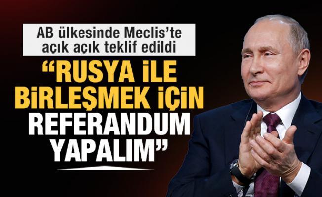 AB ülkesinde muhalefet açık açık söyledi: Rusya ile birleşmek için referandum yapalım