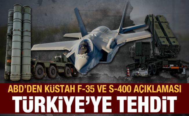 ABD'den F-35 ve S-400 açıklaması: Türkiye'ye anlamsız suçlama!
