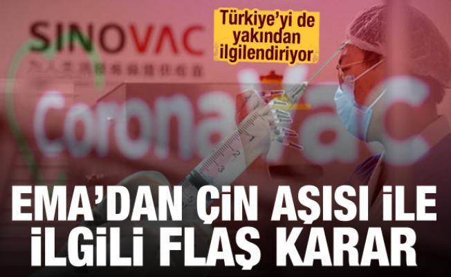 AB'den Türkiye'de de kullanılan Çin aşısı ile ilgili flaş karar