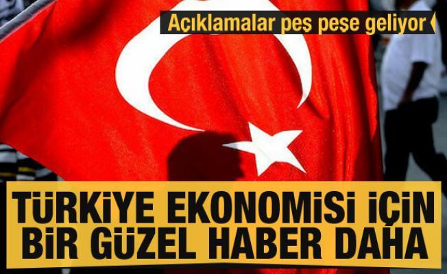 Açıklamalar peş peşe geliyor! Türkiye ekonomisi için bir güzel haber daha