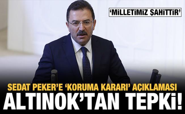 AK Parti Erzurum Milletvekili Altınok'tan 'koruma kararı' açıklaması