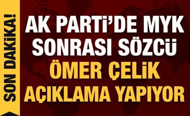 AK Parti MYK toplantısı sonrası Ömer Çelik açıklamalarda bulunuyor