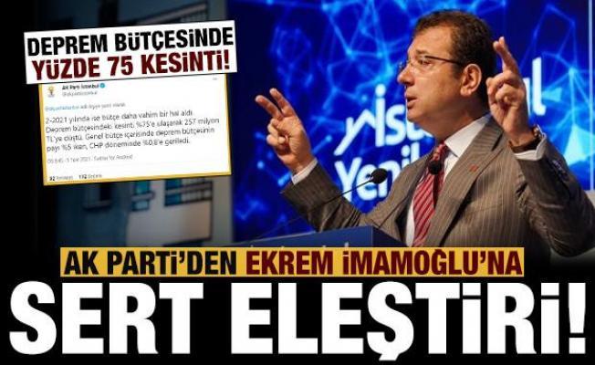 AK Parti'den İmamoğlu'na çok sert eleştiri: Reklam var bütçe yok!