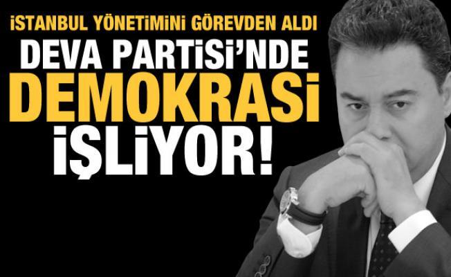 Ali Babacan, İstanbul yönetimini görevden aldı