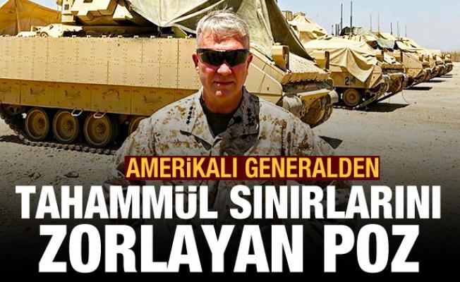 Amerikalı generalden tahammül sınırlarını zorlayan poz