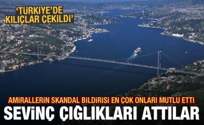 Amirallerin imalı bildirisi sonrası sevinç çığlıkları attılar: Türkiye'de kılıçlar çekildi