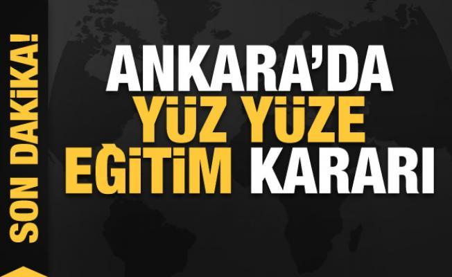 Ankara'da yüz yüze eğitim kararı! Valilik duyurdu