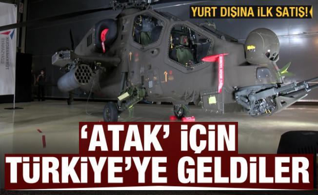 ATAK helikopterinde yurt dışına ilk satış! Türkiye'ye geldiler