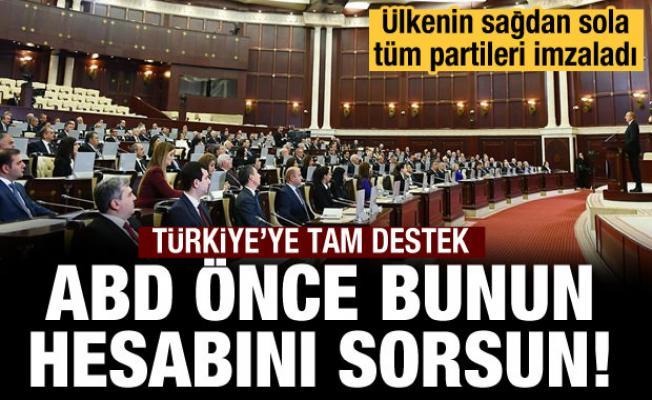 Azerbaycan'daki tüm partilerden ortak bildiri
