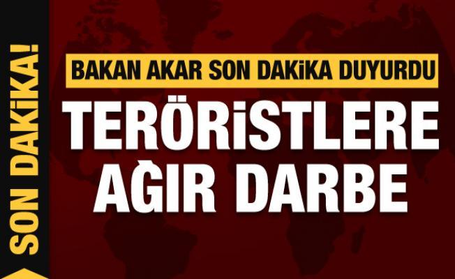 Bakan Akar açıkladı! Teröristlere ağır darbe
