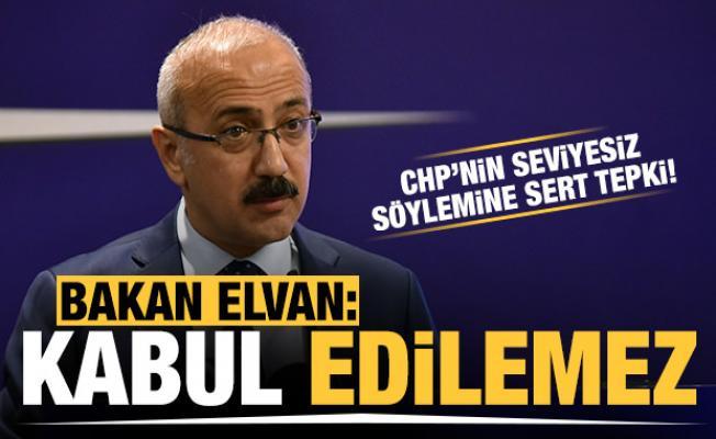 Bakan Elvan'dan CHP'nin Berat Albayrak'a yönelik çirkin saldırısına sert tepki