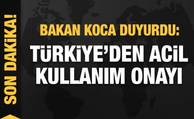 Bakan Koca'dan son dakika duyurusu: Türkiye'den acil kullanım onayı