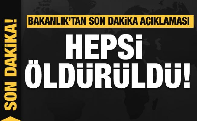 Bakanlık'tan son dakika açıklaması...PKK'lı teröristlere büyük darbe