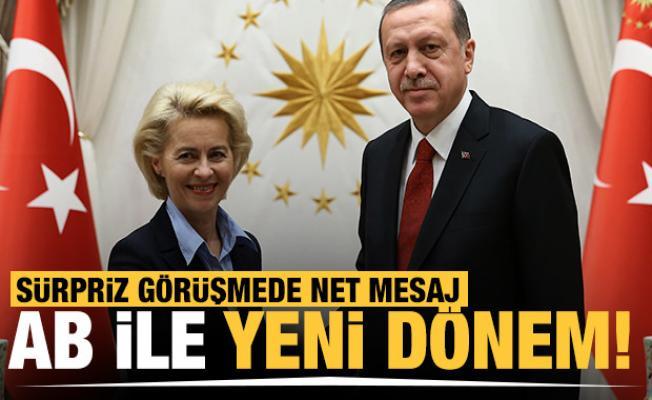 Başkan Erdoğan, AB Komisyonu Başkanı Ursula von der Leyen ile görüştü