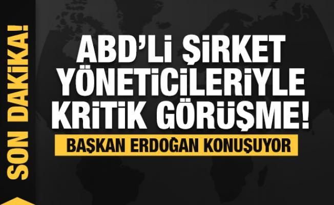 Başkan Erdoğan, ABD merkezli şirketlerin üst düzey yöneticileri ile toplantıya katılıyor