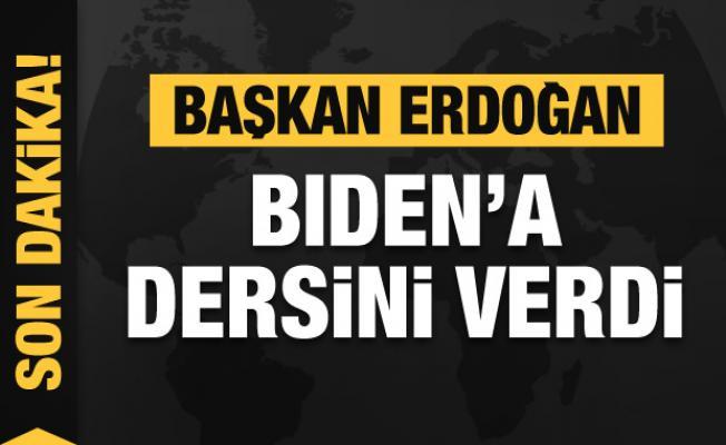 Başkan Erdoğan Bıden'a dersini verdi! Çok sert tepki!