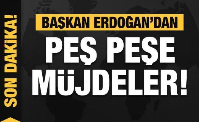 Başkan Erdoğan'dan peş peşe müjdeler! Yüzde 40 indirim...