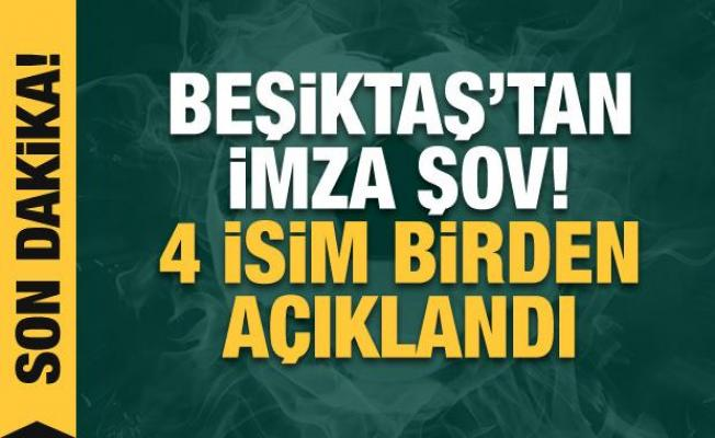 Beşiktaş resmen açıkladı! 4 imza birden