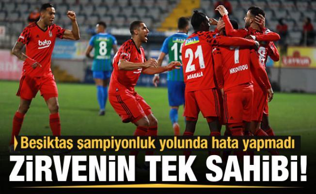 Beşiktaş şampiyonluk yolunda hata yapmadı
