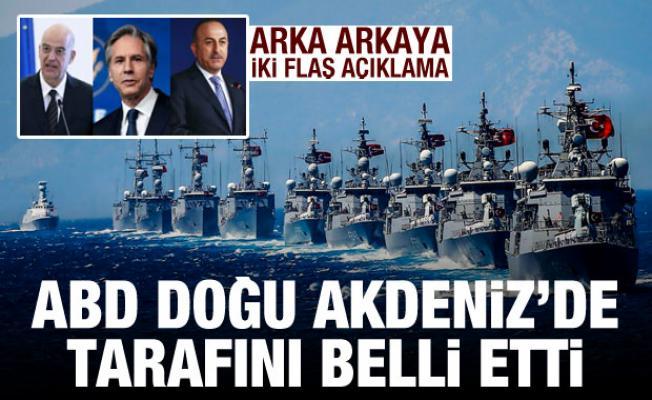 Biden yönetimi Doğu Akdeniz'de tarafını belli etti! Türkiye ve Yunanistan'a flaş mesaj