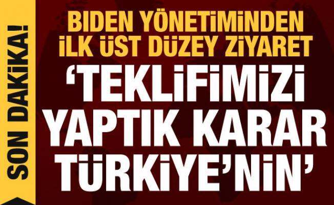 Biden yönetiminden Türkiye'ye ilk üst düzey ziyaret: Önemli açıklamalar
