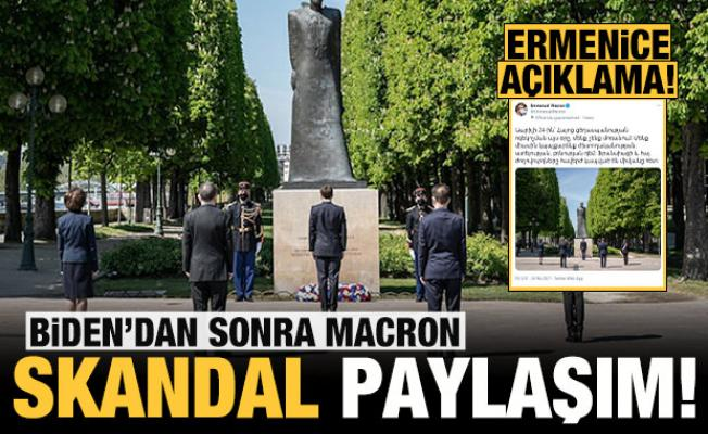 Biden'dan sonra şimdi de Macron: Skandal paylaşım!