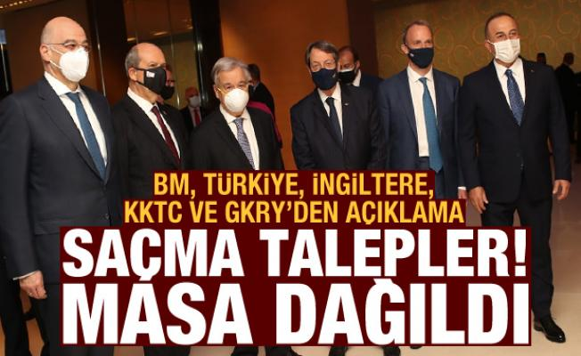 BM, Türkiye, İngiltere, KKTC ve GKRY'den açıklama! 'Kıbrıs görüşmeleri olumsuz sonuçlandı'