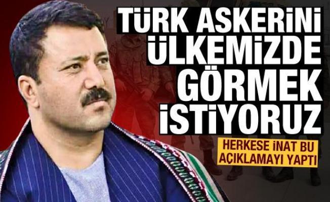 Bomba sözler: Türk bayrağını ve Türk askerini ülkemizde görmek istiyoruz