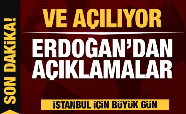 Çamlıca Kulesi açılışında Erdoğan'dan son dakika açıklamaları
