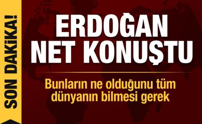 Cumhurbaşkanı Erdoğan: Bunların ne olduğunu tüm dünyanın bilmesi gerek