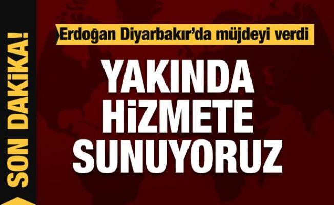Cumhurbaşkanı Erdoğan Diyarbakır'da müjdeyi verdi
