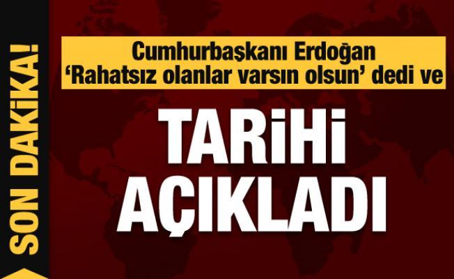 Cumhurbaşkanı Erdoğan, 'Kanal İstanbul' ile ilgili tarih verdi