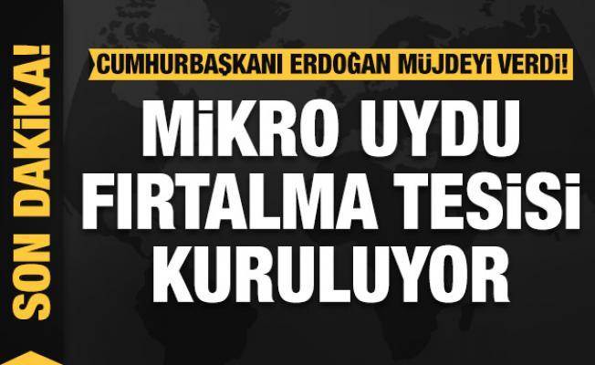 Cumhurbaşkanı Erdoğan: Ülkemize mikro uydu tesisi kuruyoruz