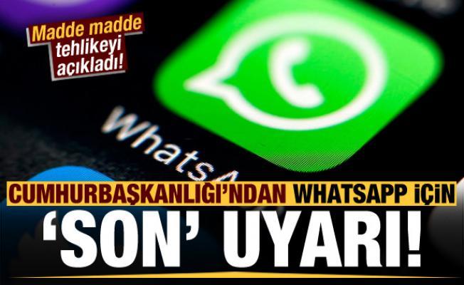 Cumhurbaşkanlığı'ndan 'WhatsApp' için son uyarı! Dikkat çeken maddeler...