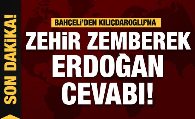 Devlet Bahçeli'den Kılıçdaroğlu'na zehir zemberek cevap