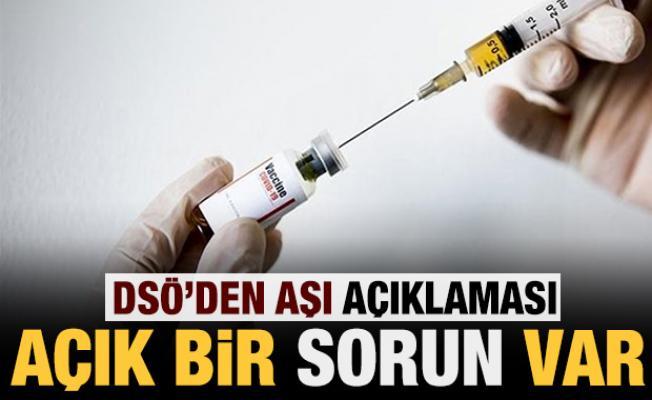 DSÖ'den aşı açıklaması: Sorun var