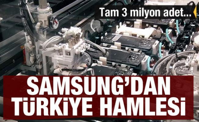 Dünya devi Samsung'dan Türkiye hamlesi! 3 milyon adet üretecek
