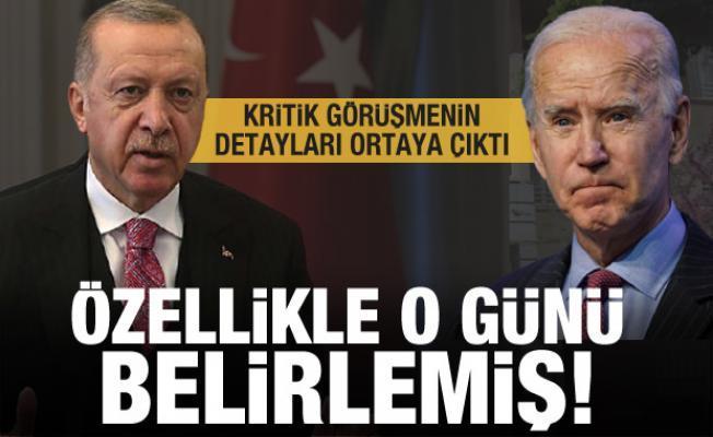 Erdoğan-Biden görüşmesinin detayı ortaya çıktı! Özellikle o günü belirlemiş!