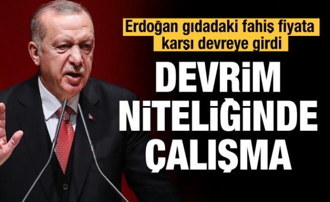 Erdoğan gıdadaki fahiş fiyata karşı devreye girdi