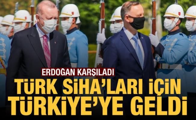 Erdoğan karşıladı: Türk SİHA'ları için Türkiye'ye geldi