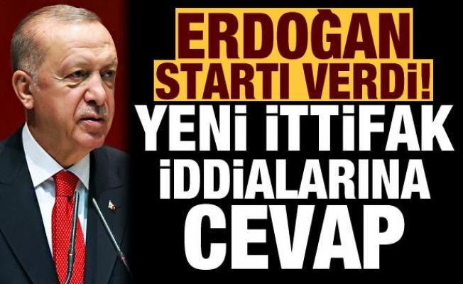 Erdoğan seçim startını verdi! Yeni ittifak iddialarına cevap