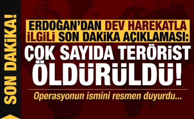 Erdoğan'dan dev harekatla ilgili son dakika açıklamaları: Çok sayıda terörist öldürüldü!