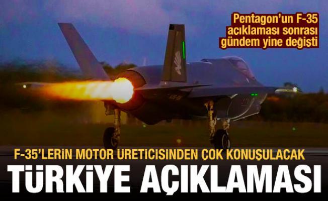 F-35'lerin motor üreticisinden dikkat çeken Türkiye açıklaması