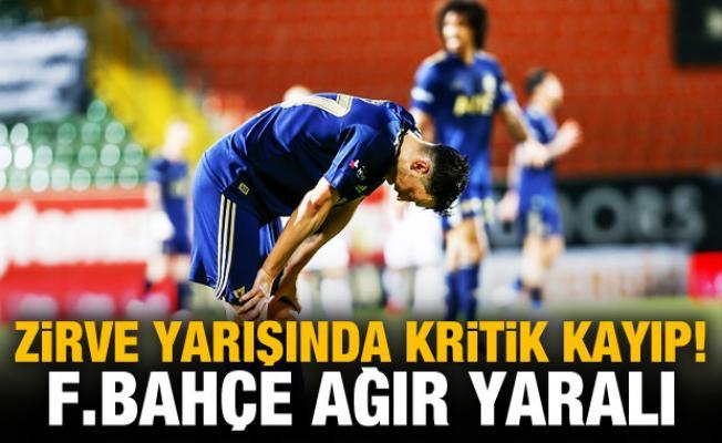 Fenerbahçe'den zirve yarışında kritik kayıp!