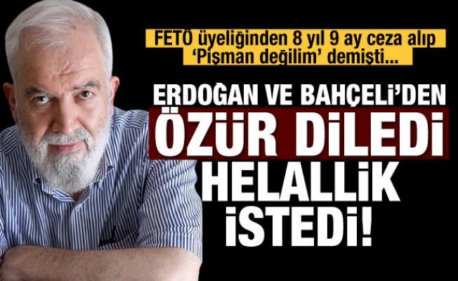 FETÖ'den yargılanan yazar Erdoğan ve Bahçeli'den özür diledi