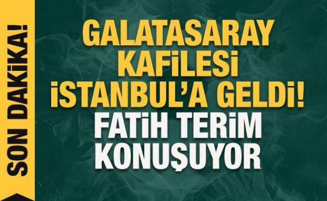 Galatasaray kafilesi İstanbul'a döndü!