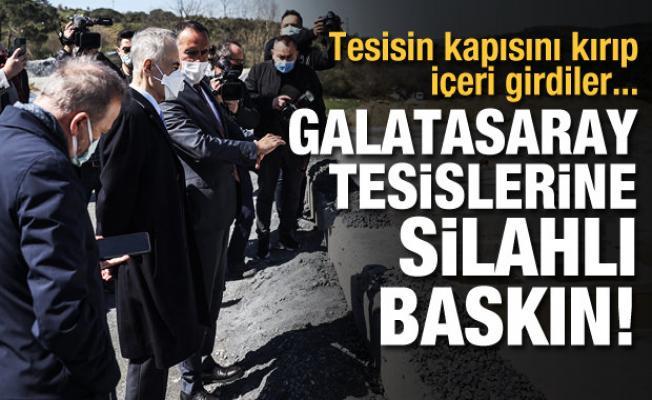 Galatasaray tesislerine silahlı baskın!