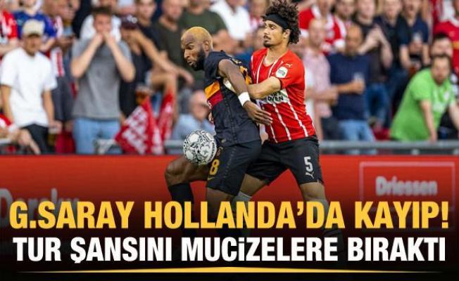 Galatasaray tur şansını mucizelere bıraktı!