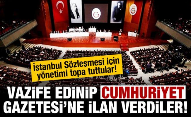 Galatasaraylı üyeler İstanbul Sözleşmesi için ilan verdi!